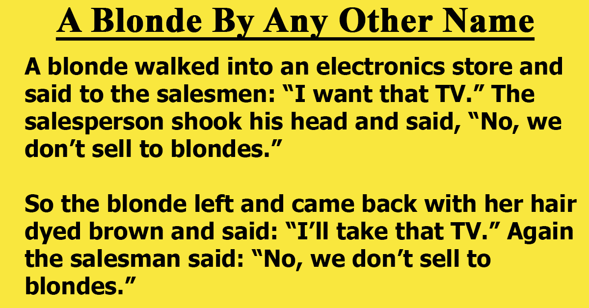 A Blonde By Any Other Name