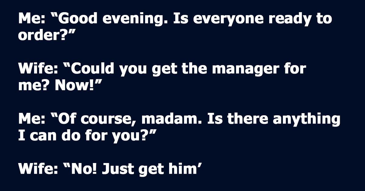 Entitled Customer Tries to Shame Deaf Server, but Her Husband Steps In.