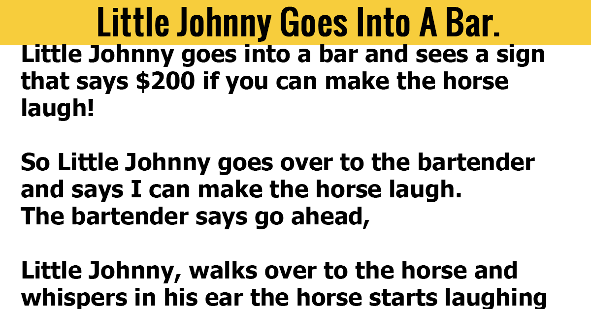 Little Johnny Goes Into A Bar