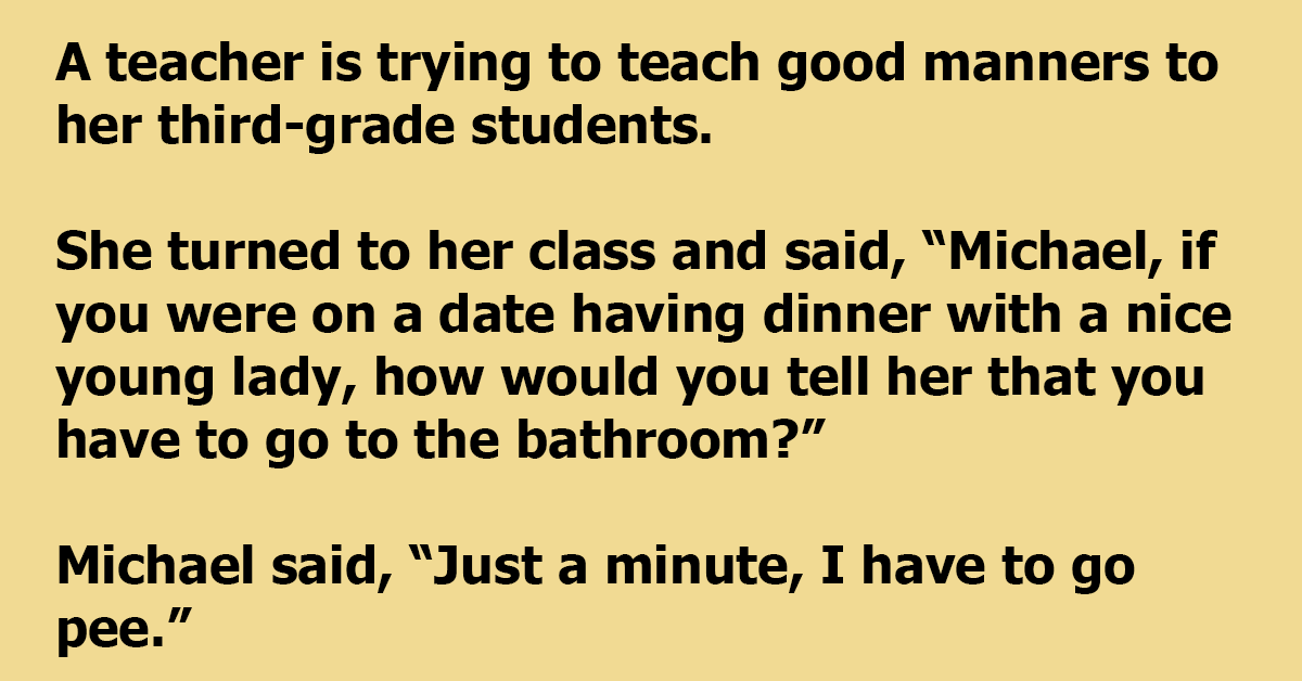 Teacher Is Trying To Teach Her Class About Manners On A First Date, And Gets A Different Answer
