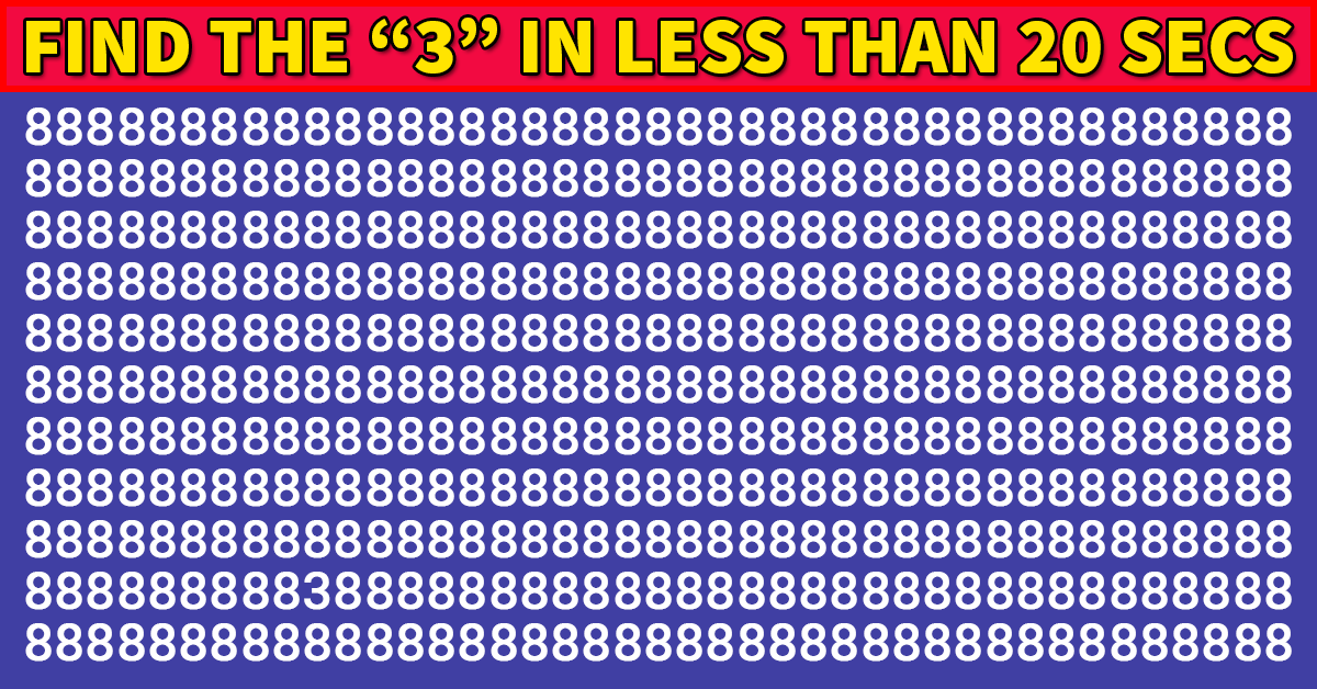 This Visual Test Will Determine The Sharpness Of Your Eyesight In 20 Seconds