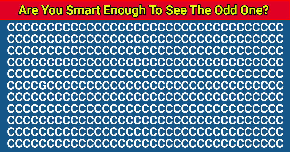 Only 1 In 50 People Can Beat This Odd One Out Visual Task. Are You Up To The Task?
