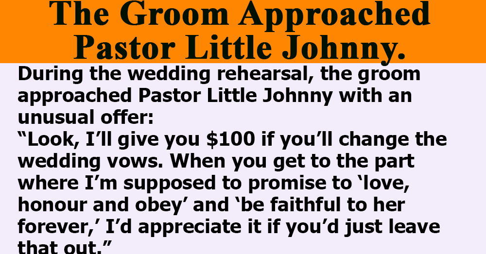 The Groom Approached Pastor Little Johnny.