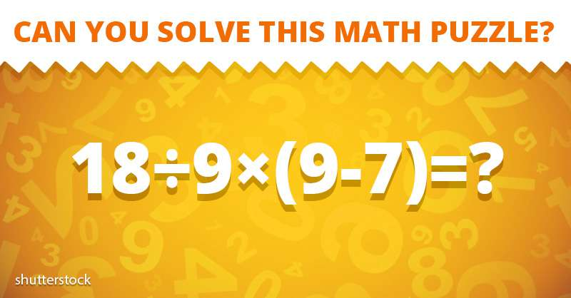 Tasking The Brain: The Math Riddle Can Be Solved Without Using A Calculator.