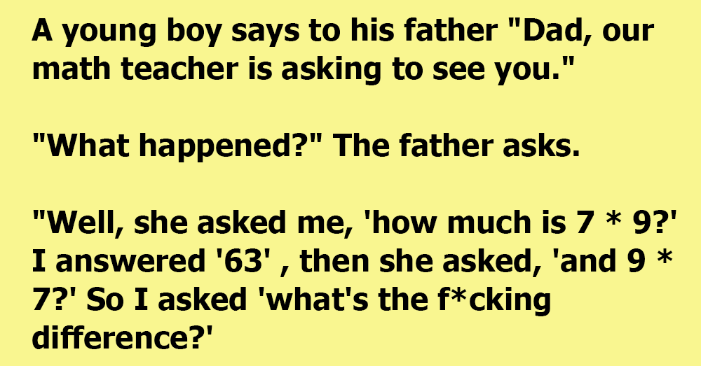 A Young Boy's Teacher Wanted To See His Father
