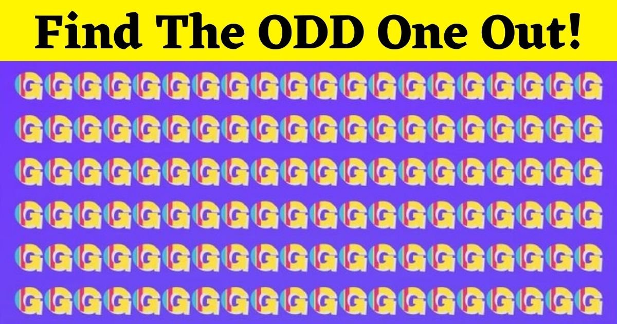 Can You Find The Odd One Out? Only 5% Of People Can Spot The Hidden Letter.