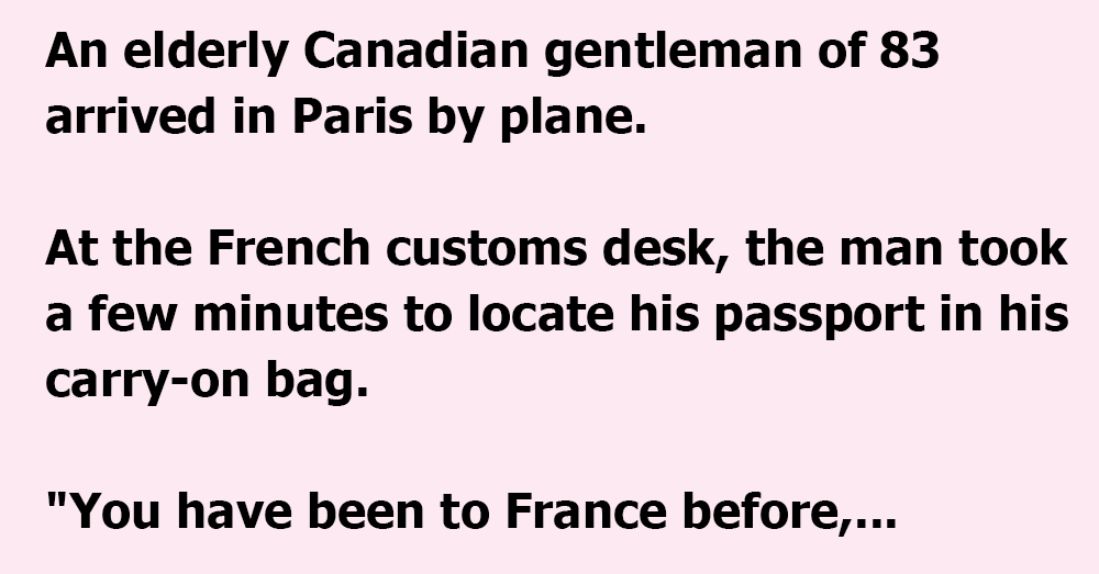 An Old Canadian in Paris