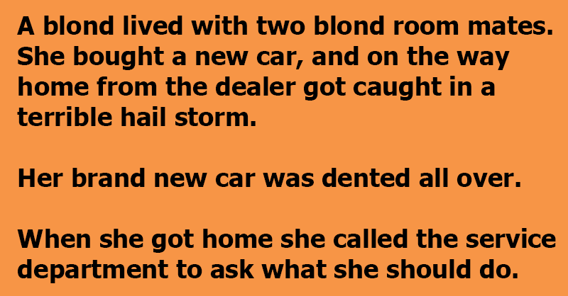 A Blonde With Her New Car